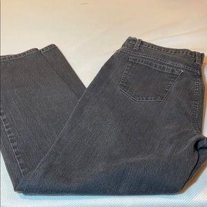 Gloria Vanderbilt Amanda charcoal gray jeans 16